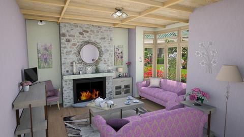 Cozy Hearth Room - Feminine - Living room - by Psweets