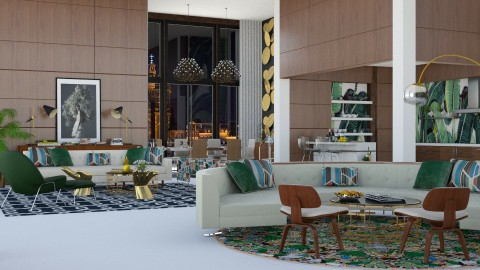 FQ - Eclectic - Living room - by AlSudairy S