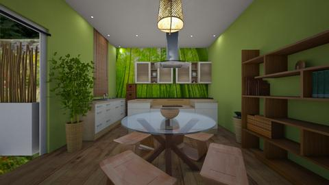 bamboo kitchen - Kitchen - by MSK