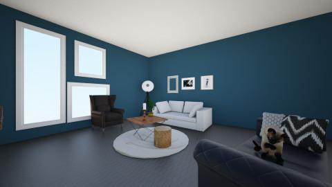 living room blue  - by valcarona