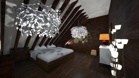 wood bedroom - Classic - Bedroom - by RollPinkEra