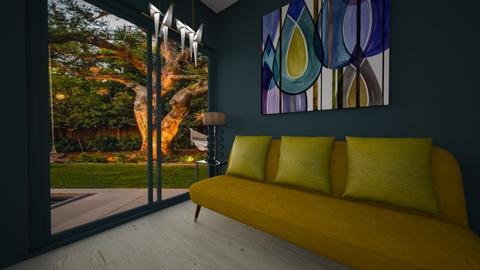 gold velvet - Living room - by abby_o