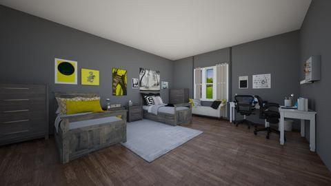 Opposites - Classic - Bedroom - by elizabethwatt16