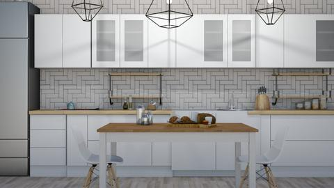 scandi - Modern - Kitchen - by NEVERQUITDESIGNIT