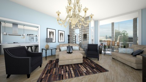 Uptown - Glamour - Living room - by CreativeCE