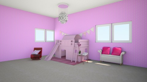 pink room - Kids room - by hatgirl123