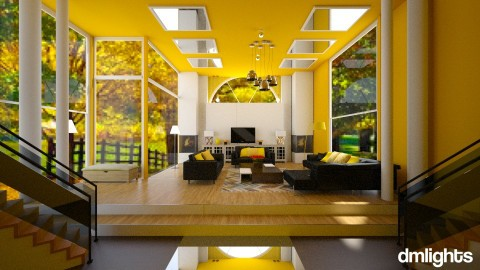 yellow  - Modern - Living room - by DMLights-user-1466046