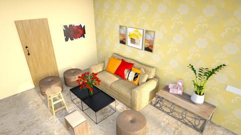 Darshan Semifinal - Rustic - Living room - by jiltsheth