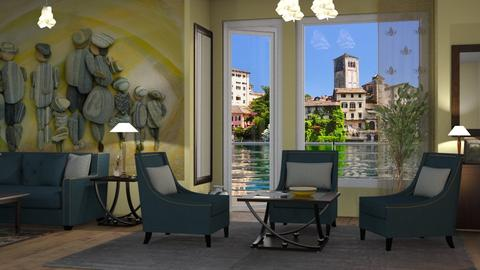 M_ Lake Orta Turin - Living room - by milyca8