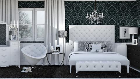 Black and White Bedroom - Bedroom - by jjp513
