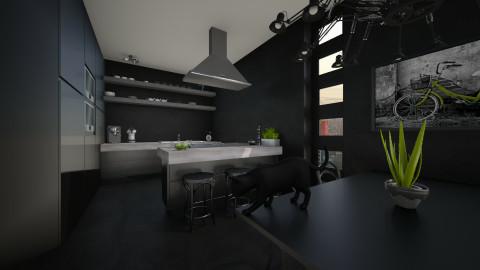 50 Shades Of Black - Kitchen - by MandyB84