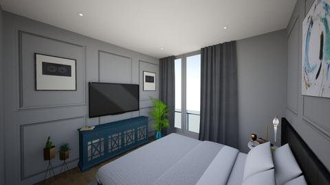 Grey bedroom - Bedroom - by bianca boeriu
