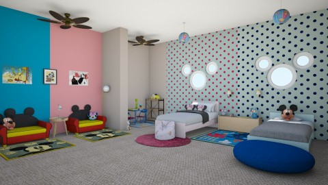 Mickey Mouse Twins - Kids room - by stokeshannah