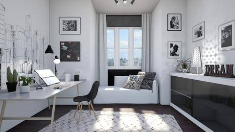 Black_White_Office - Office - by Isabella_Palmeri