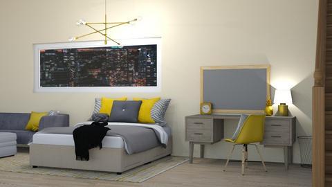 Yellow Bedroom - Bedroom - by cutebaxter123