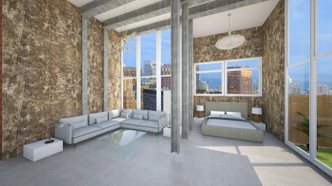 loft - Vintage - Living room - by rampage