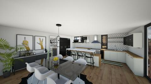Sassy BW Kitchen - Modern - Kitchen - by mrusso0