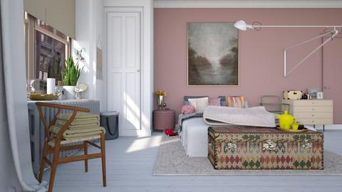 Dusty rose - Feminine - Bedroom - by HenkRetro1960