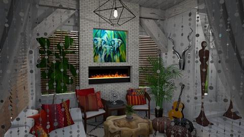 Modern Bohemian Vibes - Living room - by luna smith