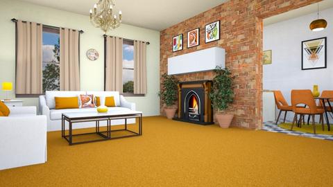 Orange Carpet - Global - Living room - by zayneb_17