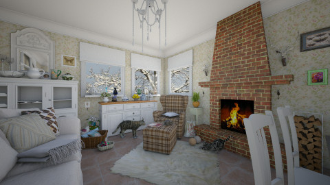 M_Winter - Country - Living room - by milyca8