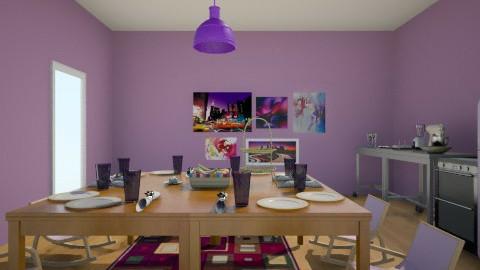 Purple_Beige Kitchen - Modern - Kitchen - by Hannah Helms