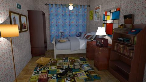 FINAL - Retro - Bedroom - by zoidar