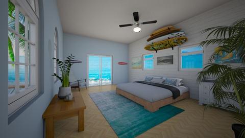 surf bedroom - Bedroom - by PusheenAndNutella