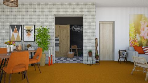 Orange Carpet - Modern - Living room - by martinabb
