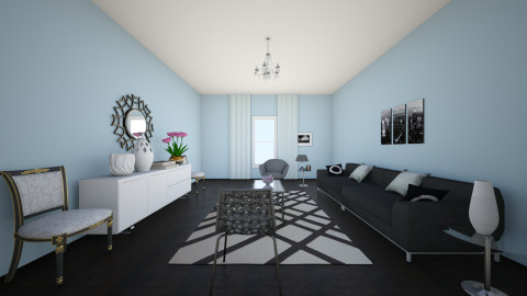 blue - Living room - by muhhahhahhahhaa