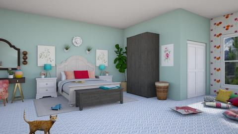 Aqua Pink Suite - Kids room - by guinealove4