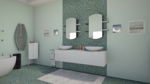 mint wall - Modern - Bathroom - by alexdj
