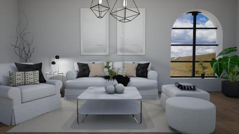 White - Living room - by Tuija