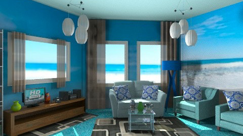 BLUE - Glamour - Living room - by HannaTOTE