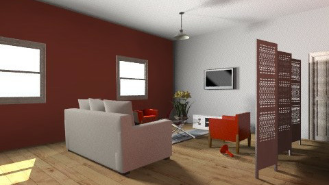 Young couple livingroom - Modern - Living room - by coccinelledu28