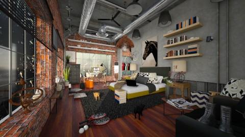 loft bedroom - Modern - Bedroom - by sometimes i am here