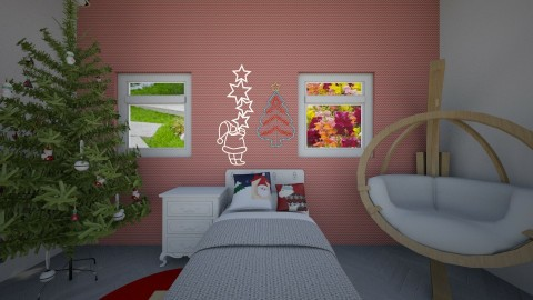 Christmas Bedroom - by death by donuts