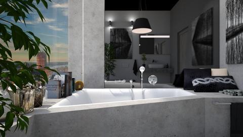 grey - Bathroom - by atiyahanisah