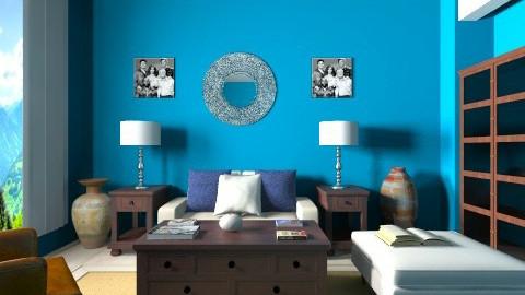 Midnight blue - Glamour - Living room - by anjuska9