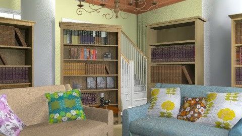Books and mirrors - Retro - Hallway - by ioanavladut7