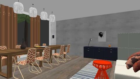 GREY - Global - Dining room - by Kaarina