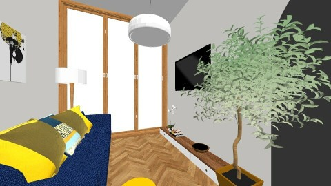 Yellow Living - Living room - by kriziastyles