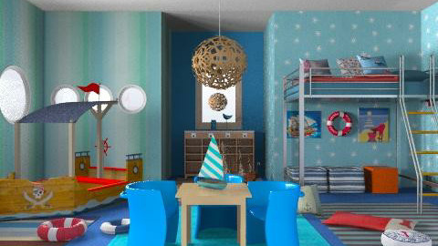 ships - Eclectic - Kids room - by chania