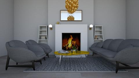 Gold and Grey - Living room - by hannah136