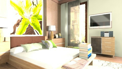 green dream - Bedroom - by julija