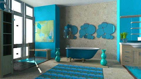 Turquoise Bath - Eclectic - Bathroom - by Karenina