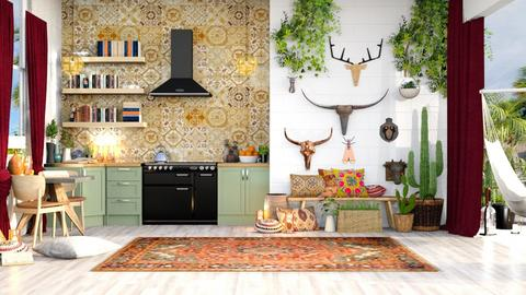 bohemian kitchen  - Kitchen - by TamarK