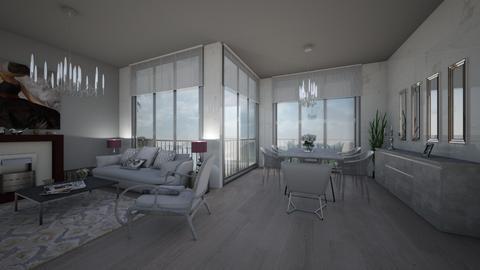 grey living room - Living room - by cuneyt oznur
