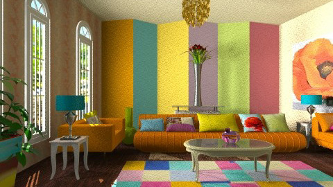 Colorful living room - Modern - Living room - by wiljun