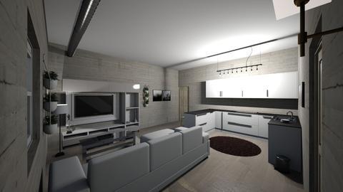Apartment  1 angle 2 - Bedroom - by Julianatgonzales